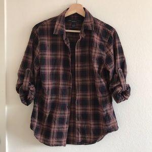 Marc by Marc Jacobs shrunken fit plaid shirt